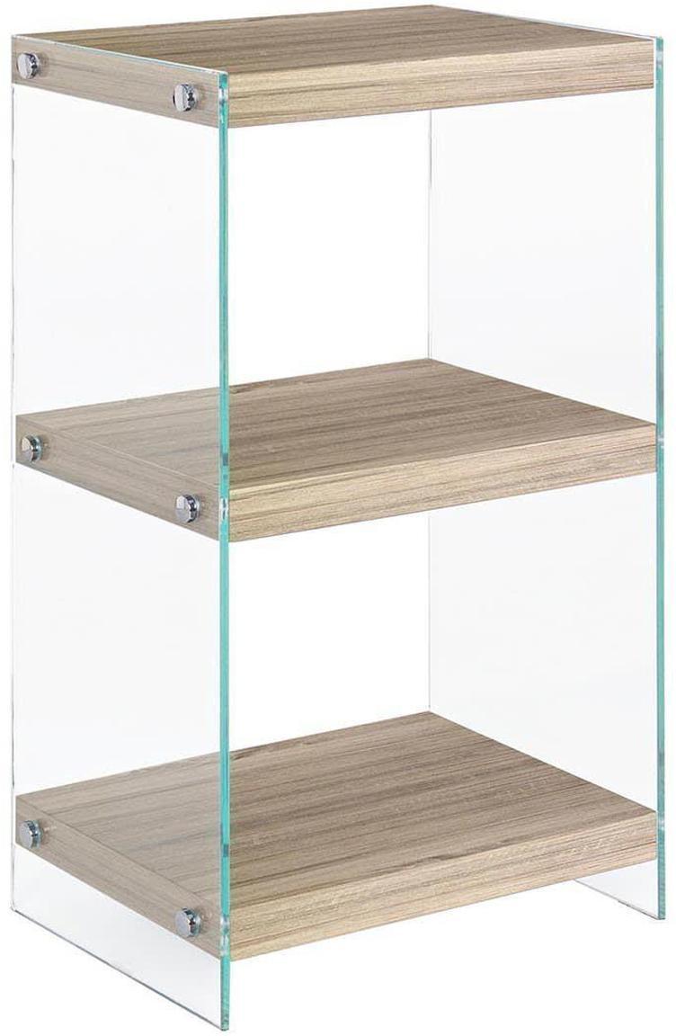 Estantería Kenya, Estantes: tablero de fibras de dens, Transparente, beige, An 40 x Al 70 cm