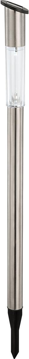 Lampa solarna LED Thin, 6 szt., Stal nierdzewna, Stal szlachetna, Ø 6 x W 60 cm