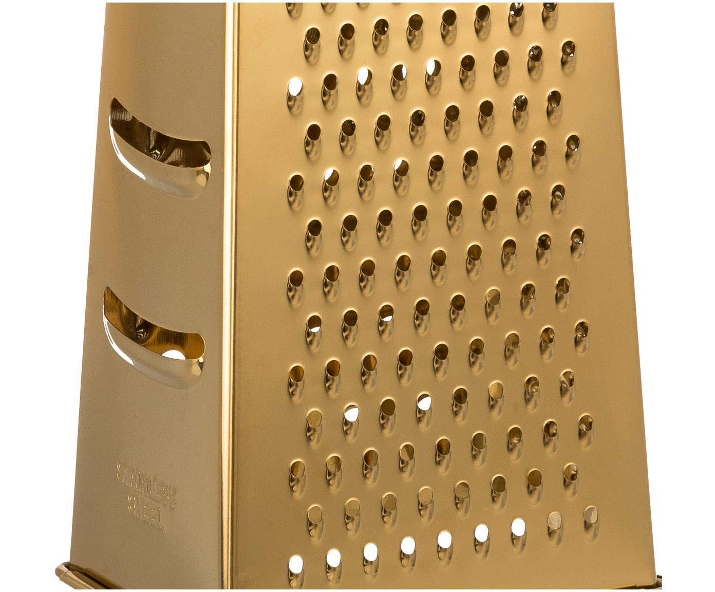 Tarka do parmezanu Grate, Stal, Odcienie złotego, S 9 x W 18 cm