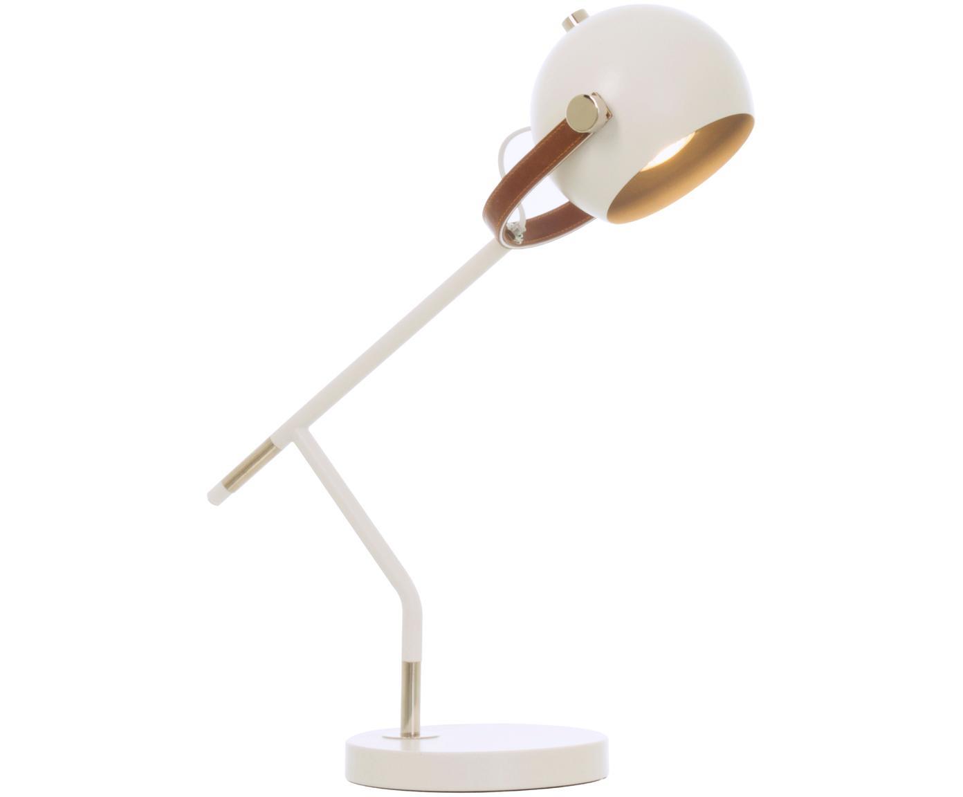Lámpara de escritorio Bow, estilo escandinavo, Cable: plástico, Blanco, An 42 x Al 54 cm