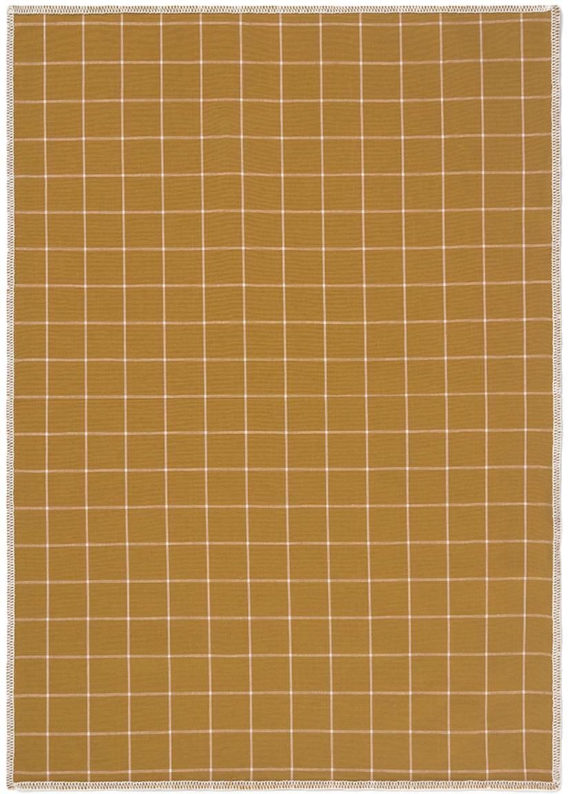 Ręcznik kuchenny Karura, 2 szt., Bawełna, Musztardowy, S 50 x D 70 cm