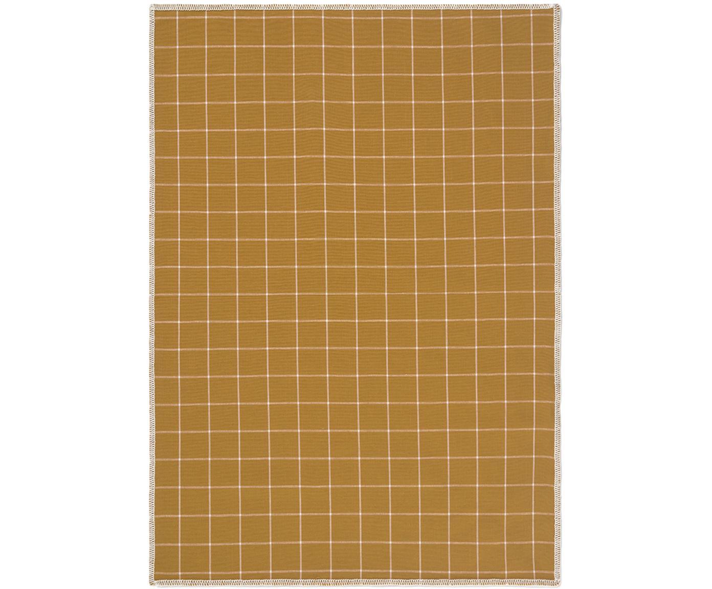 Strofinacci Karura 2 pezzi, Cotone, Giallo senape, Larg. 50 x Lung. 70 cm