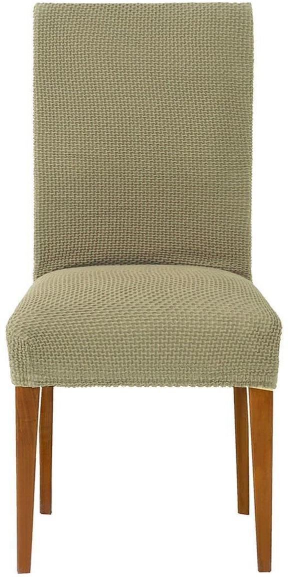 Fundas para silla Cora, 2 uds., 55% poliéster, 30% algodón, 15% elastomero, Marrón, An 40 x Al 55 cm