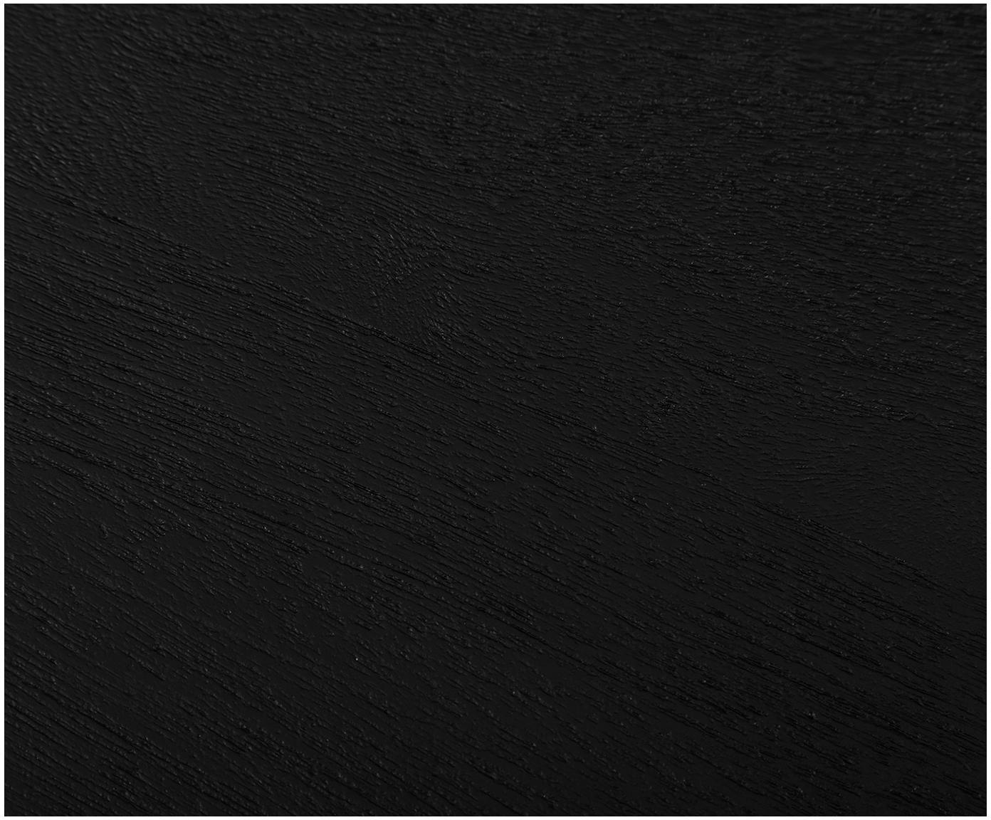 Komoda z litego drewna Luca, Korpus: lite drewno mangowe, szcz, Stelaż: metal malowany proszkowo, Korpus: czarny, lakierowany Stelaż: czarny, matowy, S 160 x W 70 cm