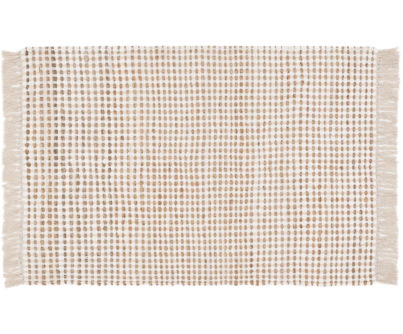 Teppich Fiesta aus Baumwolle/Jute, 55% Baumwolle, 45% Jute, Weiß, Beige, B 200 x L 300 cm (Größe L)