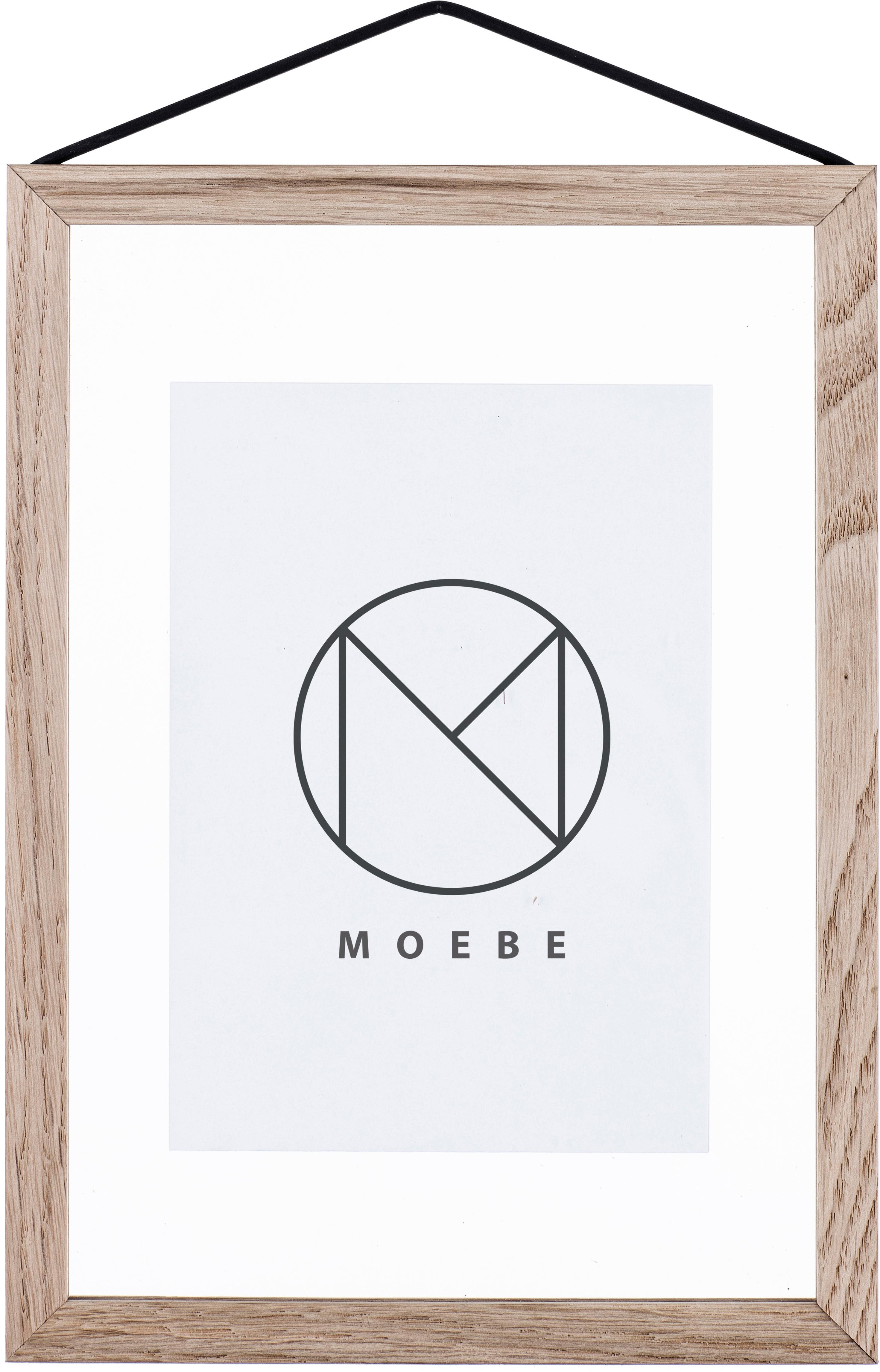 Cornice Frame, Cornice: legno di quercia non trat, Cornice: legno di quercia<br>Sospensione: nero<br>Frontale e posteriore: traspar, Larg. 17 x Alt. 23 cm