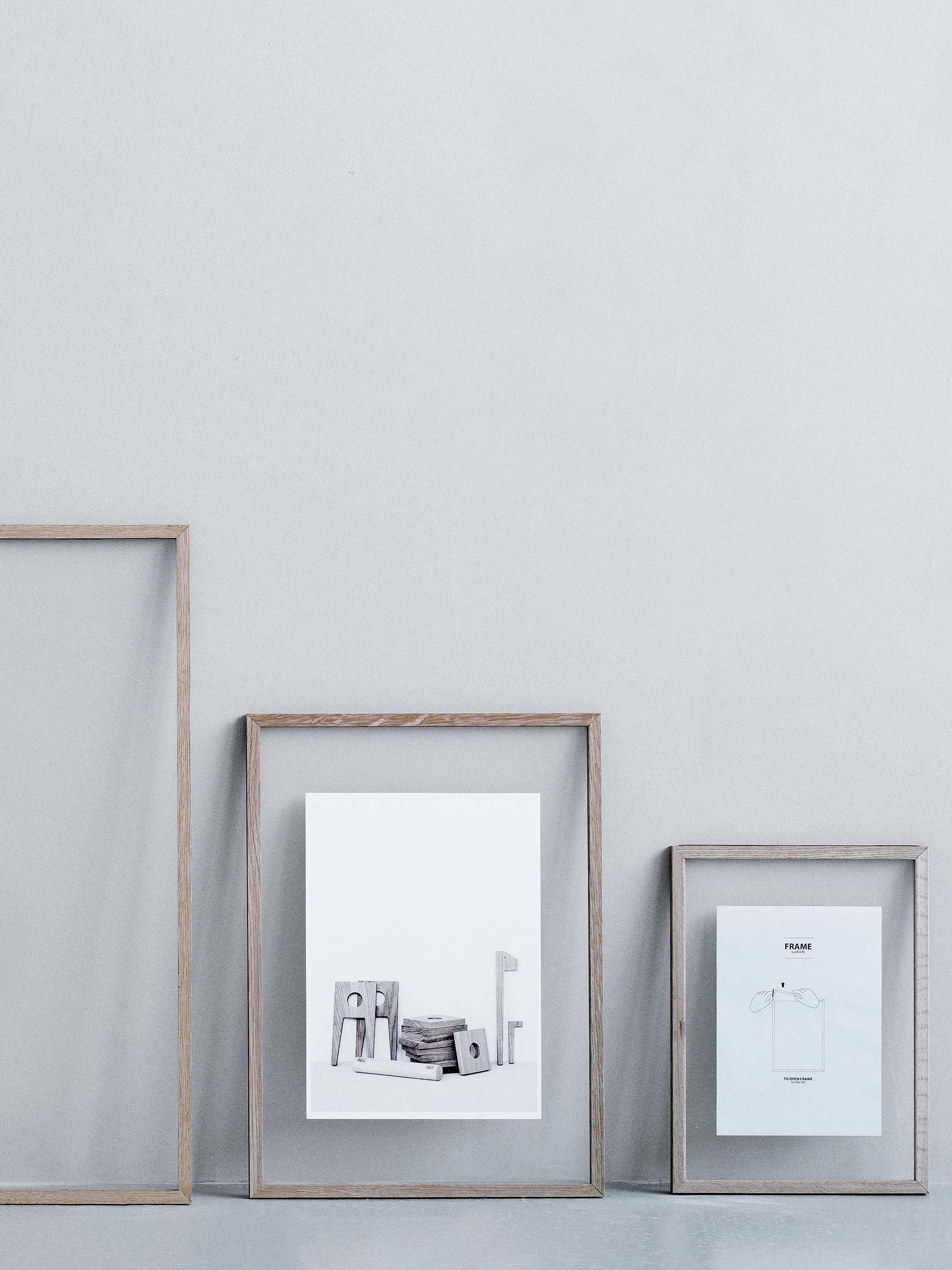Marco Frame, Roble, negro, An 17 x Al 23 cm