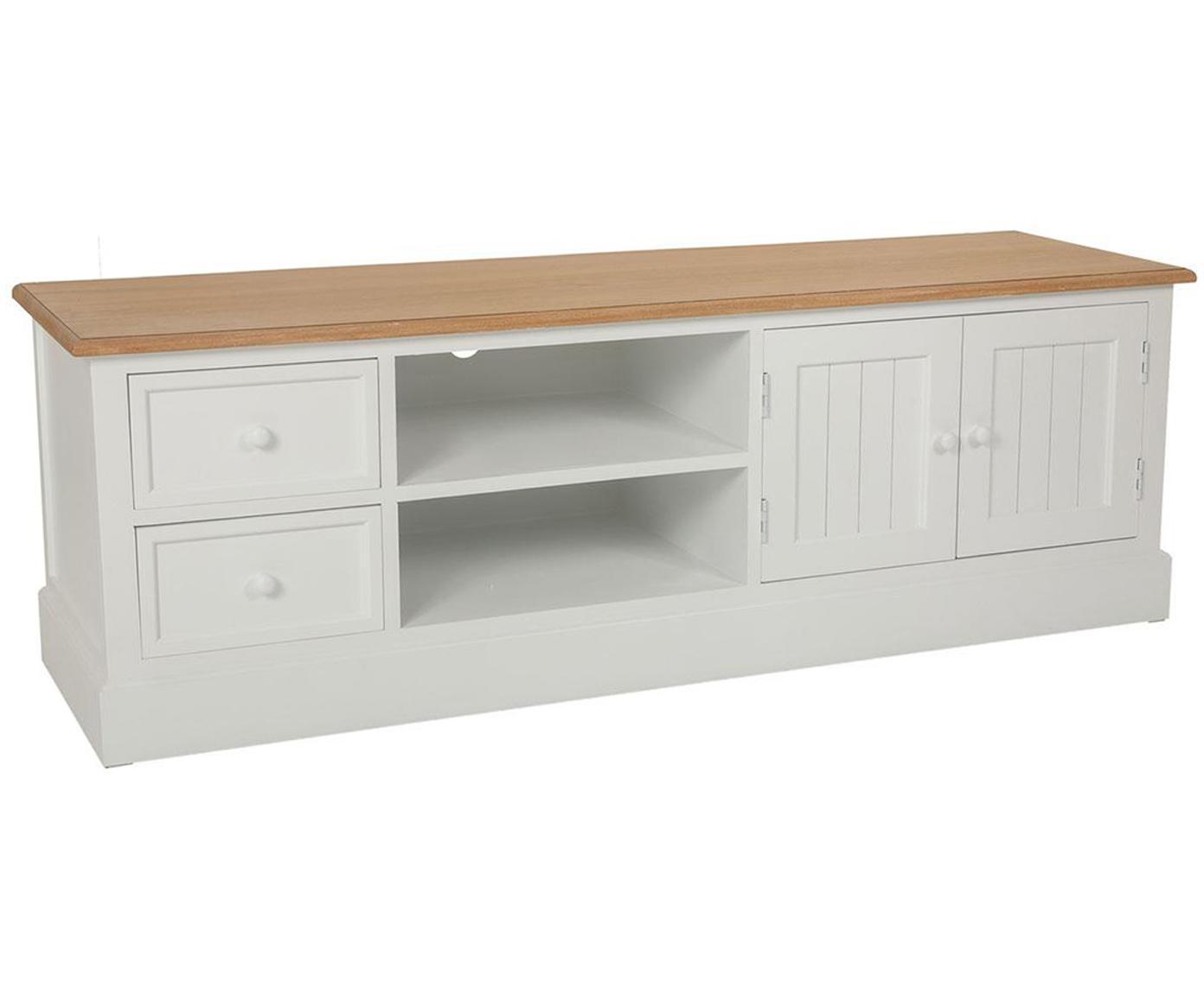 Mueble de TV Nora, Blanco, beige, An 150 x Al 50 cm