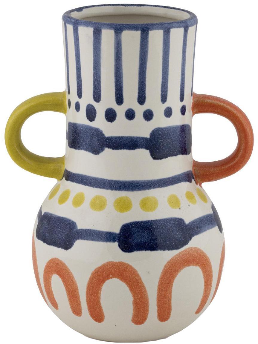 Beschilderde vaas Majorelle van keramiek, Keramiek, Multicolour, 15 x 20 cm