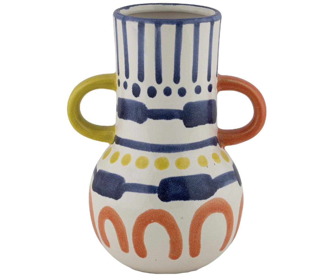 Bemalte Vase Majorelle aus Keramik, Keramik, Mehrfarbig, 15 x 20 cm