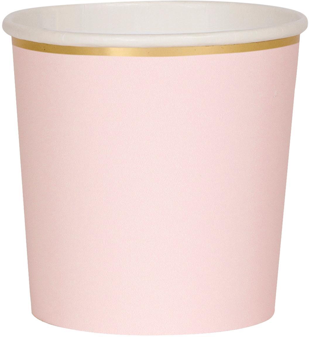 Papier-Becher Simply Eco, 8 Stück, Papier, foliert, Rosa, Ø 8 x H 8 cm