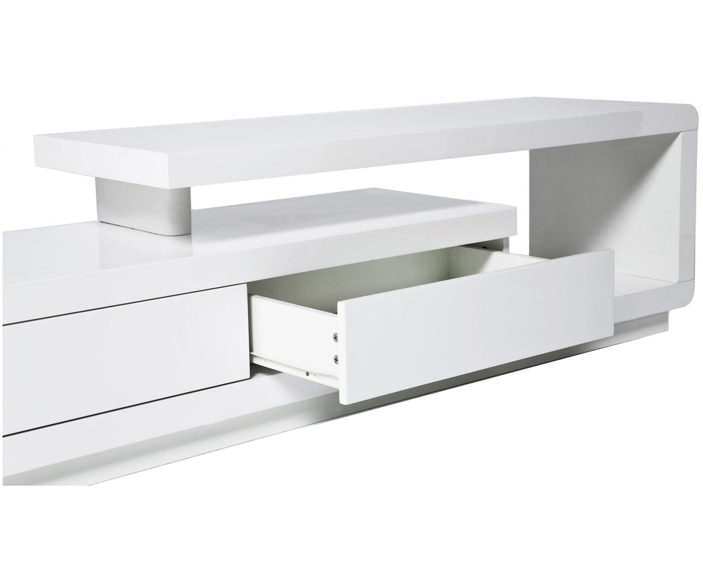 Szafka RTV Loft, Lakierowana płyta pilśniowa (MDF), Biały, S 170 x W 45 cm