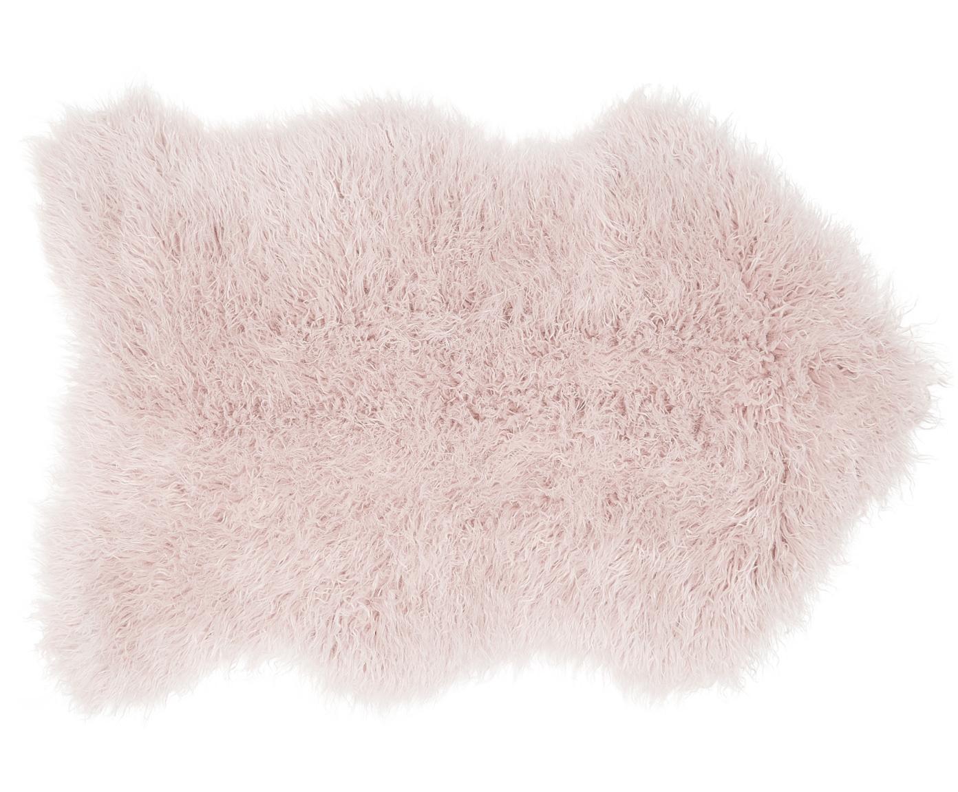Kunstfell Morten, gelockt, Vorderseite: 67% Acryl, 33% Polyester, Rückseite: Polyester, Rosa, 60 x 90 cm
