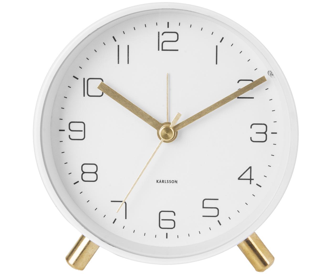 Wecker Lofty, Metall, lackiert, Weiß, Ø 11 x T 5 cm