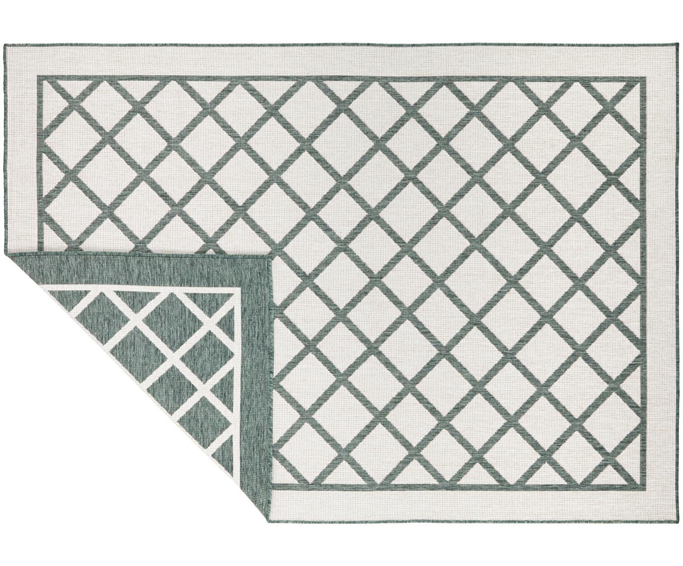 Alfombra reversible de interior y exterior Sydney, Verde, crema, An 120 x L 170 cm (Tamaño S)