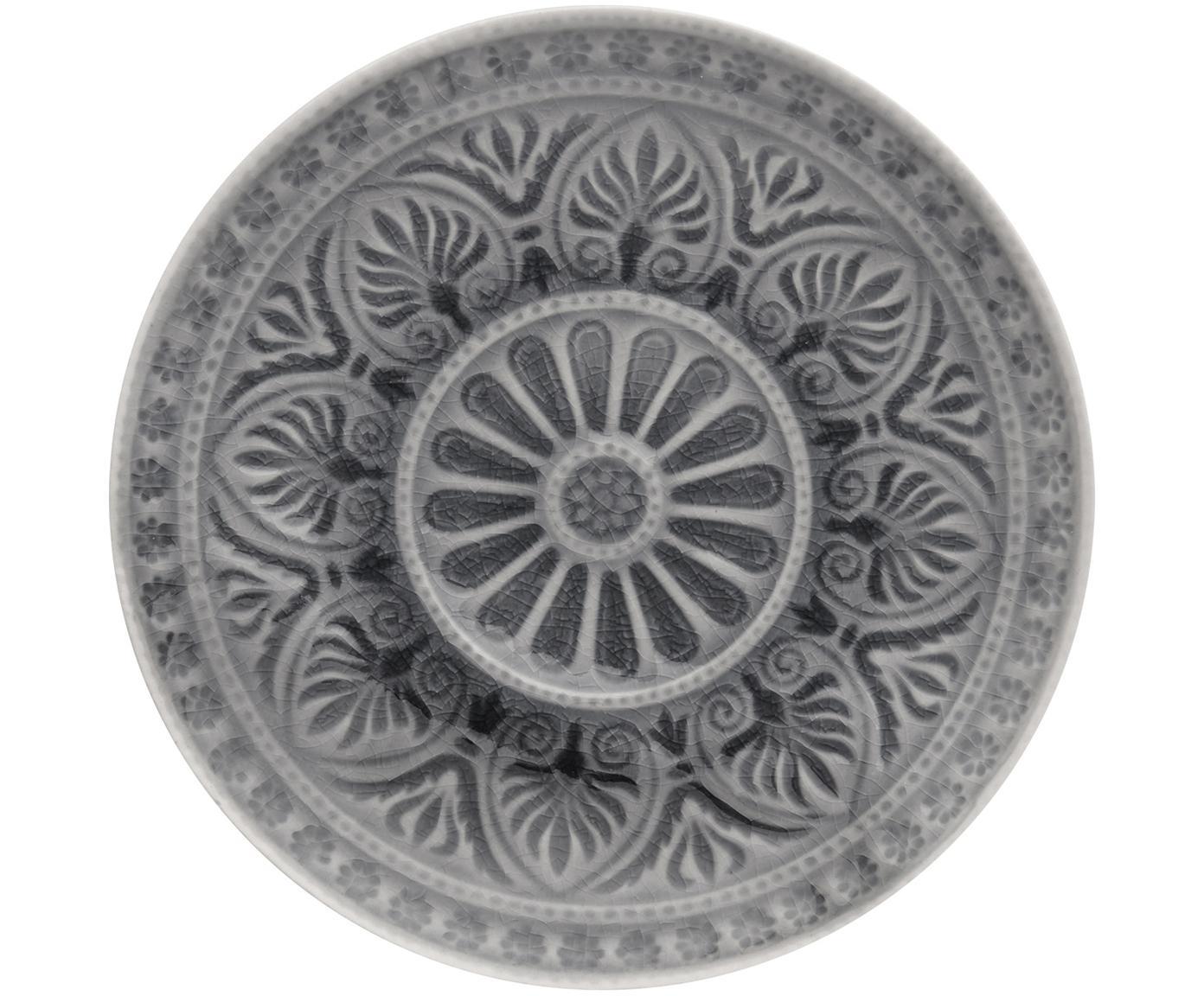 Broodbord Sumatra, 2 stuks, Keramiek, Grijs, Ø 14 cm