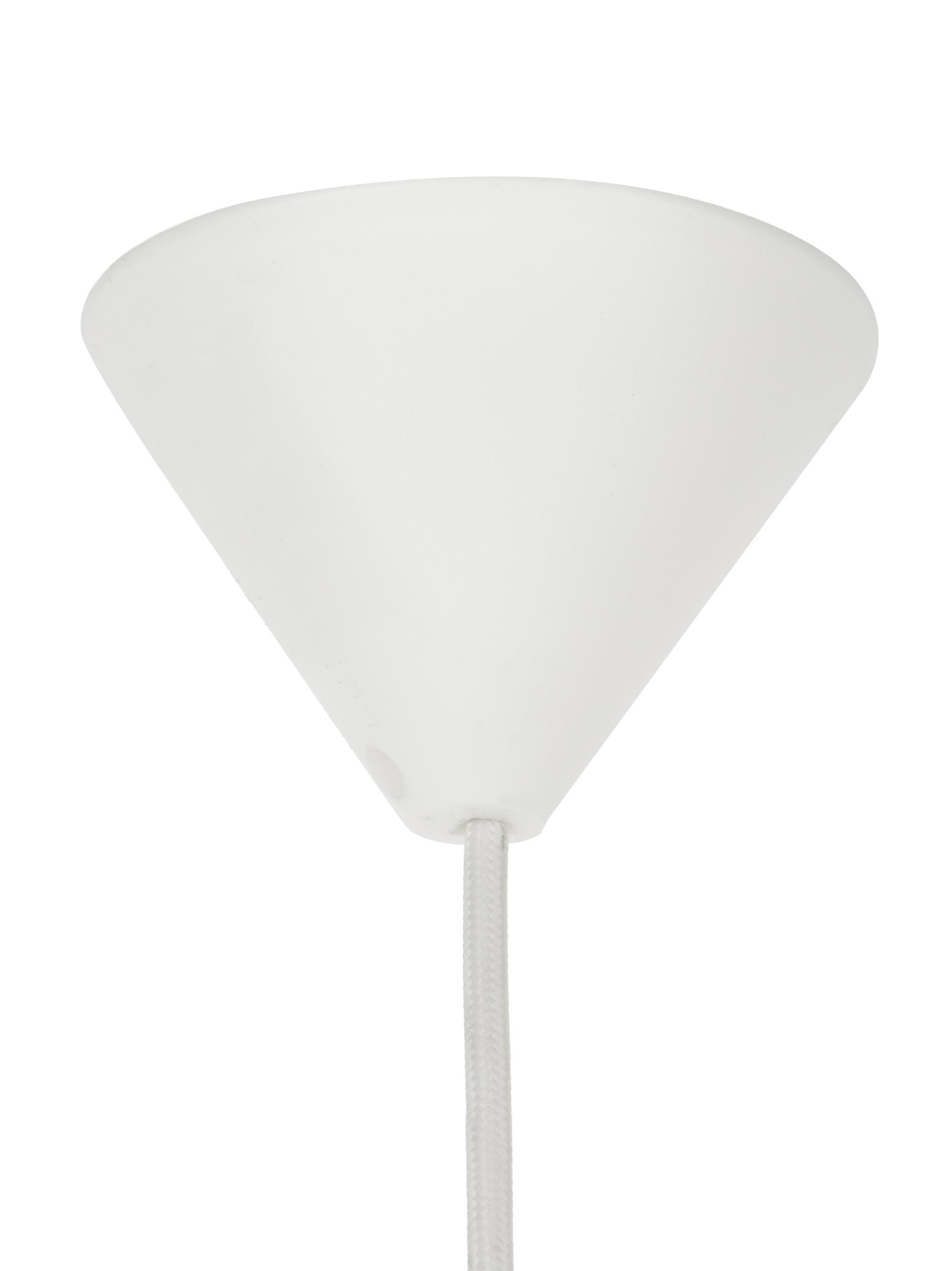 Lampada a sospensione Carmina, Paralume: polipropilene, Bianco, Ø 48 cm x Alt. 36 cm