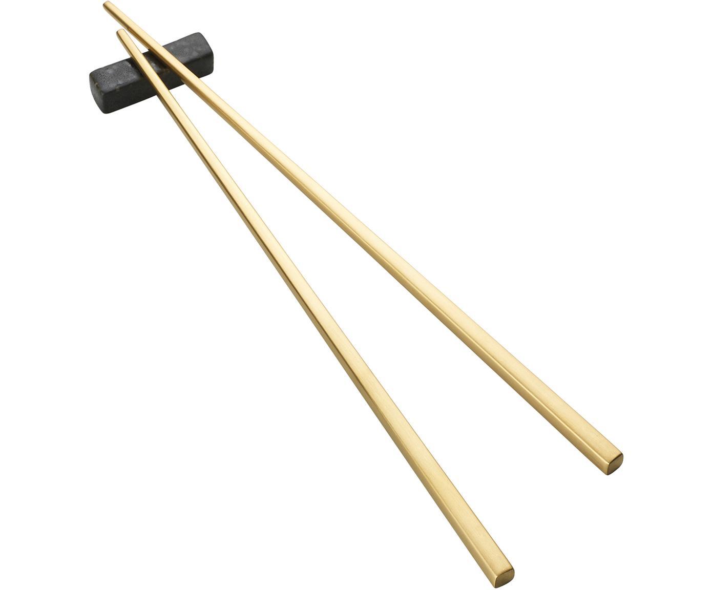 Komplet pałeczek Chop, 6 elem., Odcienie złotego, czarny, D 26 cm