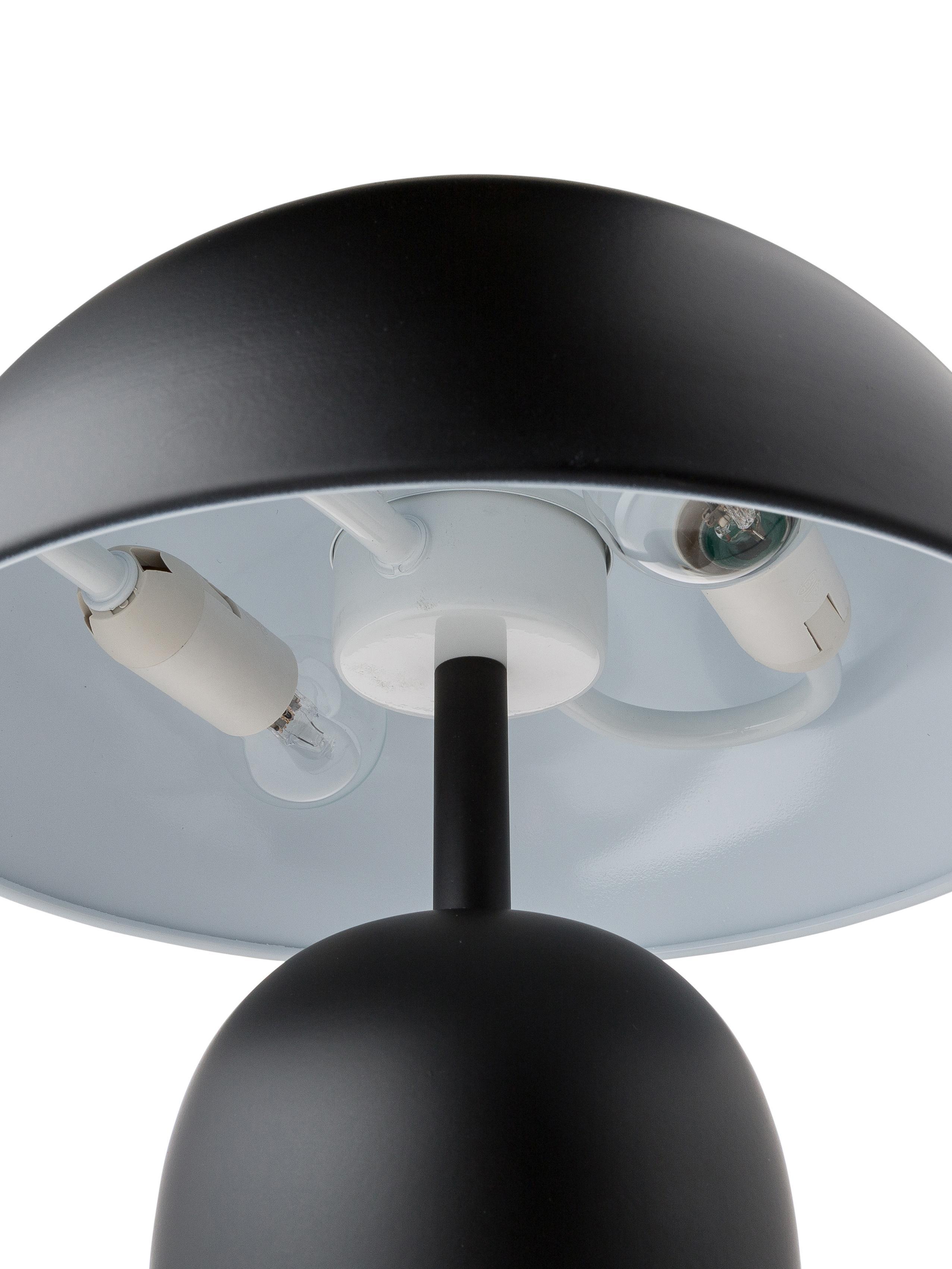 Retro-Tischlampe Walter, Lampenschirm: Metall, Lampenfuß: Metall, Mattschwarz, Ø 25 x H 33 cm
