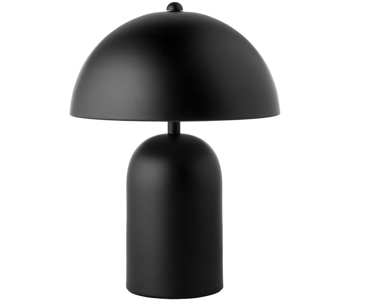 Tafellamp Walter, Lampenkap: metaal, Lampvoet: metaal, Mat zwart, Ø 25 x H 33 cm