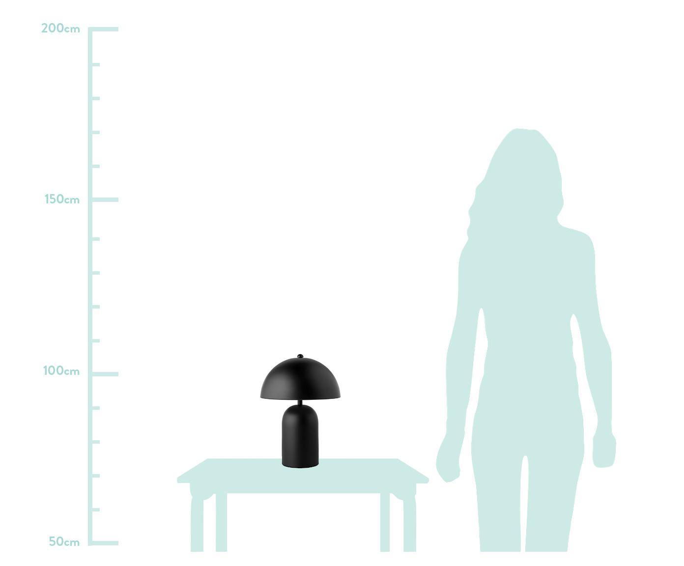 Lampa stołowa retro Walter, Czarny, matowy, Ø 25 x W 33 cm