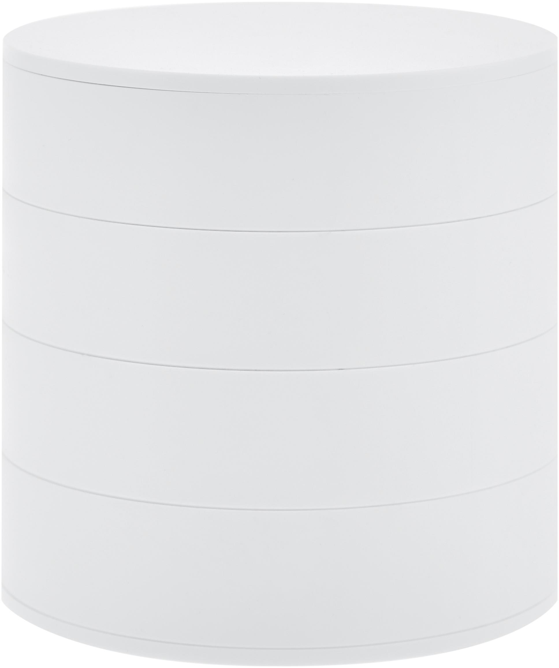 Joyero Tower, Blanco, Ø 10 x Al 10 cm