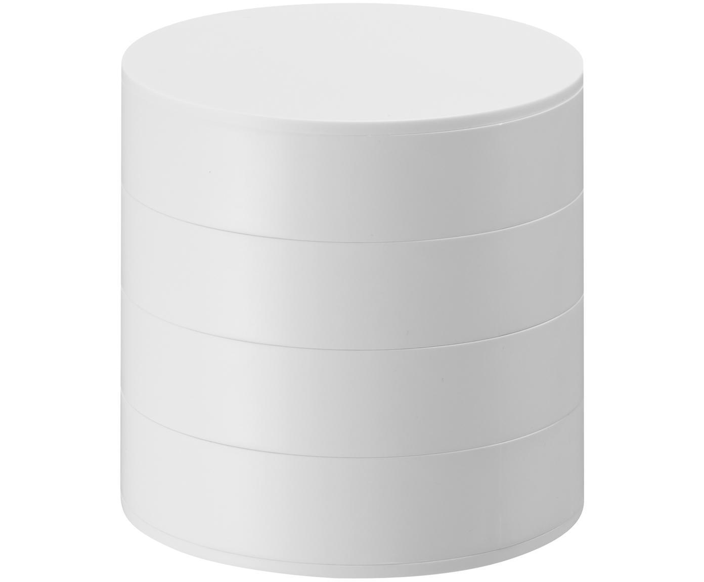 Pudełko na biżuterię Tower, Biały, Ø 10 x W 10 cm