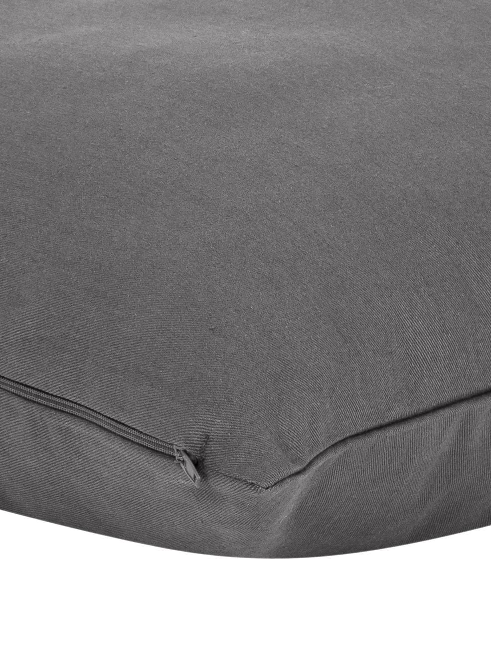 Federa arredo in grigio scuro Mads, 100% cotone, Grigio scuro, Larg. 40 x Lung. 40 cm