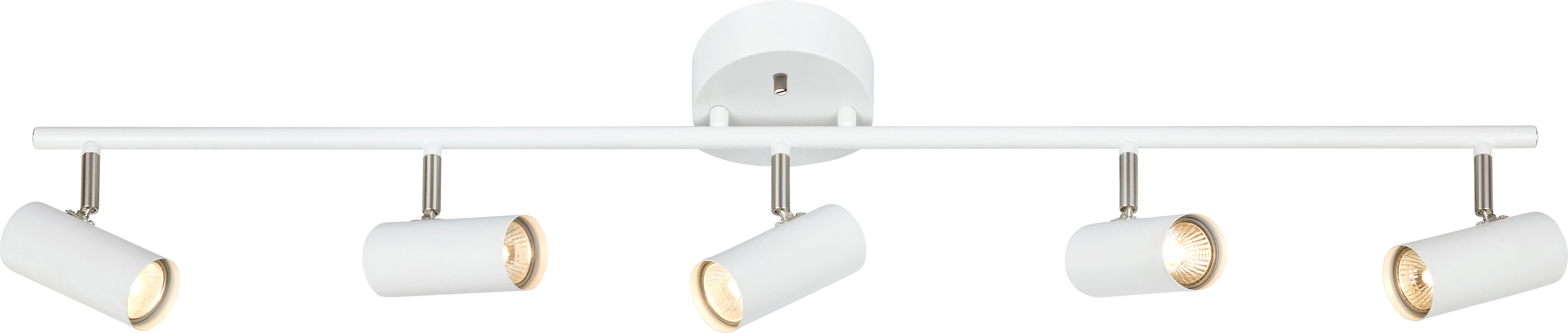 Faretti da soffitto Barcelona, Metallo rivestito, Bianco, Larg. 105 x Alt. 20 cm