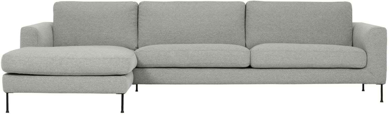 Ecksofa Cucita (4-Sitzer), Bezug: Webstoff (Polyester) Der , Gestell: Massives Kiefernholz, Webstoff Grau, B 302 x T 163 cm