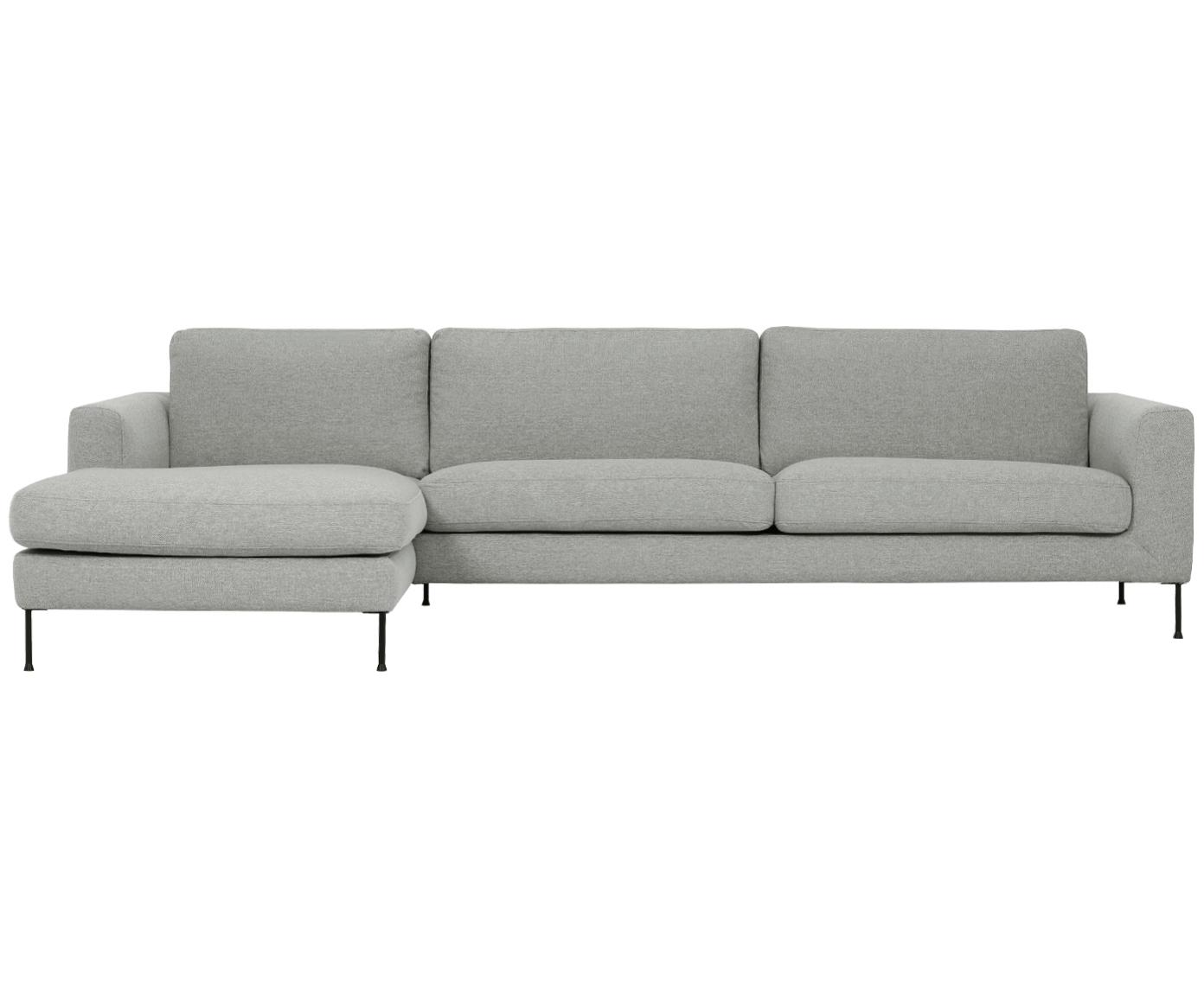 Ecksofa Cucita (4-Sitzer), Bezug: Webstoff (Polyester) 45.0, Gestell: Massives Kiefernholz, Webstoff Grau, B 302 x T 163 cm