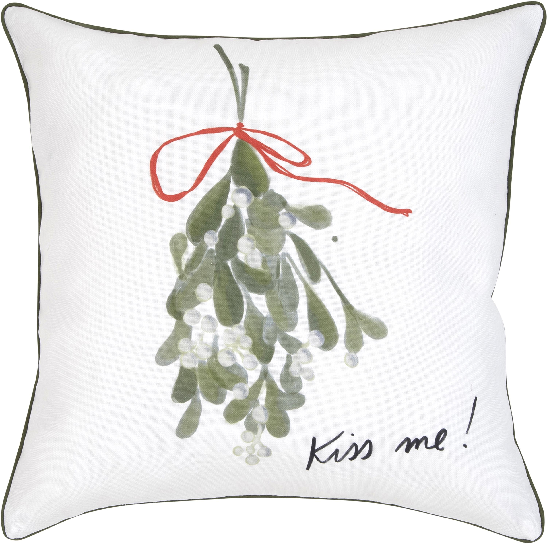 Federa arredo di Kera Till Kiss Me, 100% cotone, Cuscino: multicolore Bordatura: verde, Larg. 40 x Lung. 40 cm