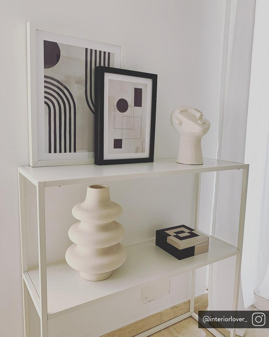 Scaffale in metallo bianco Newton, Metallo verniciato a polvere, Bianco, Larg. 80 x Prof. 80 cm