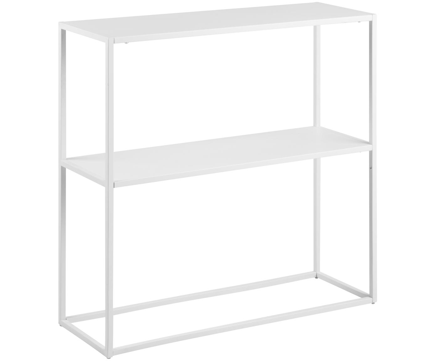 Metall-Regal Newton in Weiss, Metall, pulverbeschichtet, Weiss, 80 x 80 cm