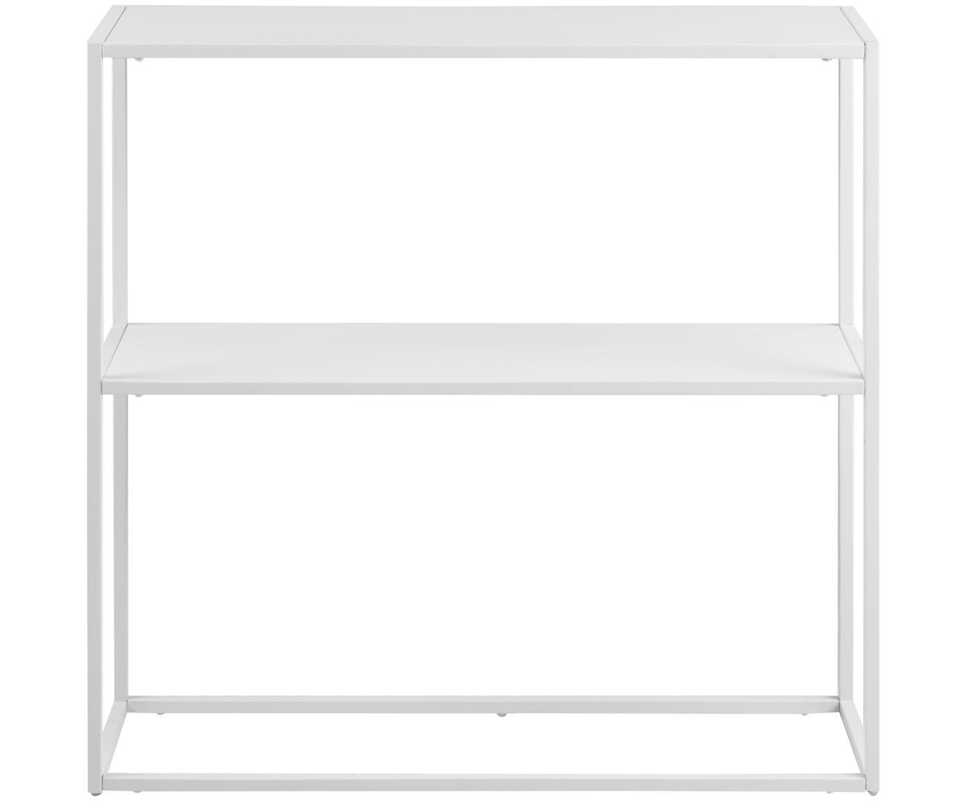Metall-Regal Newton in Weiss, Metall, pulverbeschichtet, Weiss, 80 x 80 cm