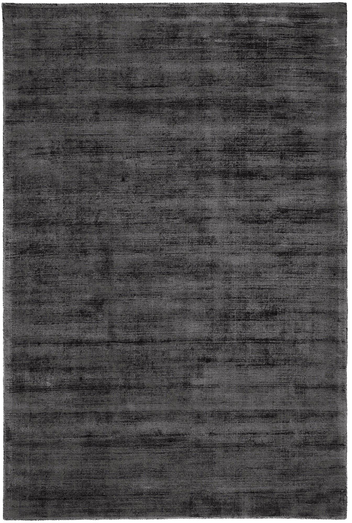 Ręcznie tkany dywan z wiskozy Jane, Antracytowoczarny, S 120 x D 180 cm (Rozmiar S)