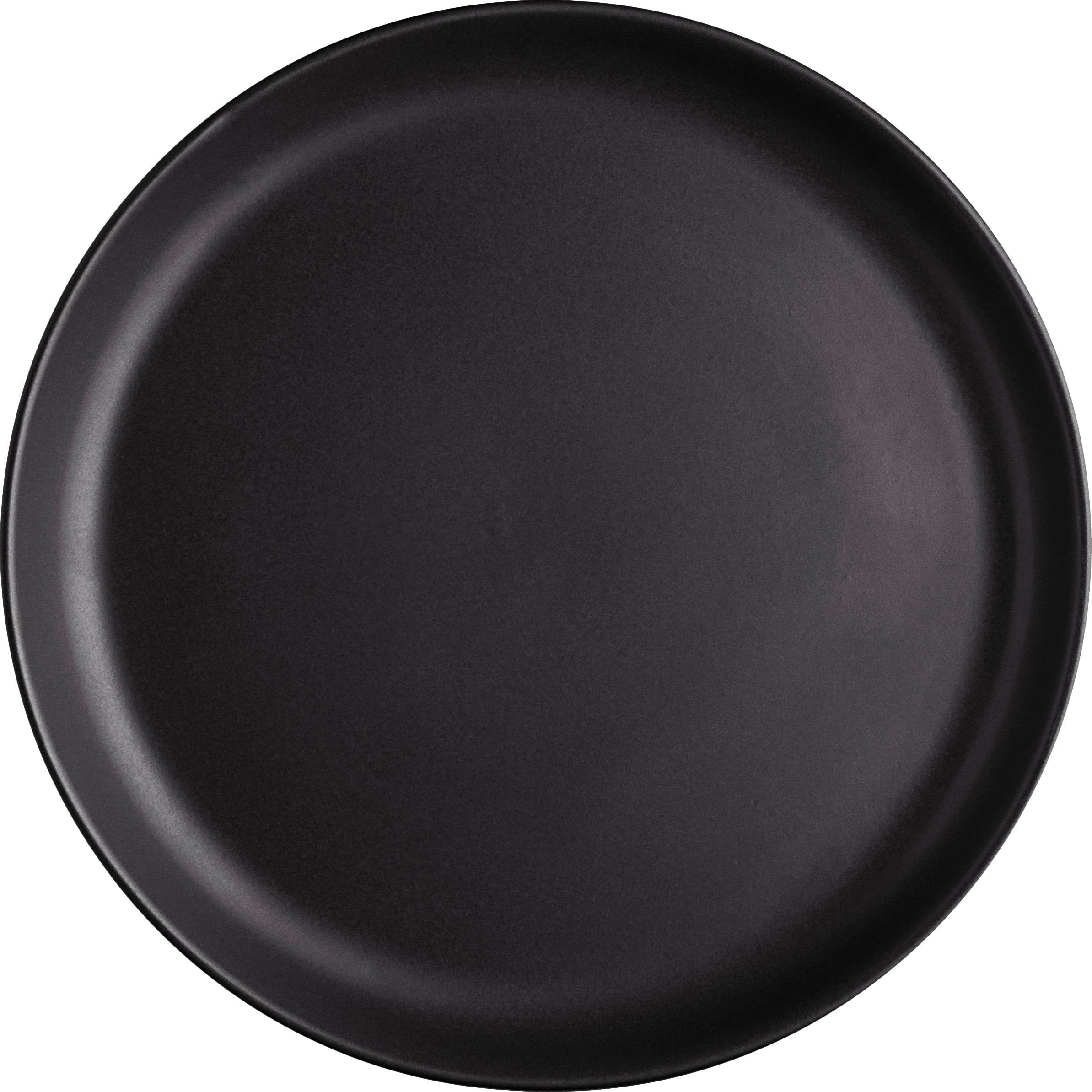 Ontbijtborden Nordic Kitchen, 4 stuks, Keramiek, Mat zwart, Ø 21 cm