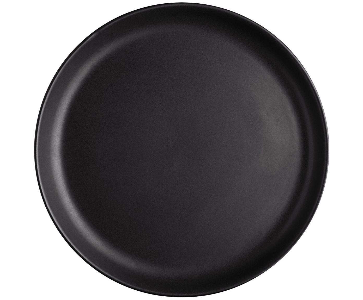 Piatto da colazione Nordic Kitchen 4 pz, Gres, Nero opaco, Ø 21 cm