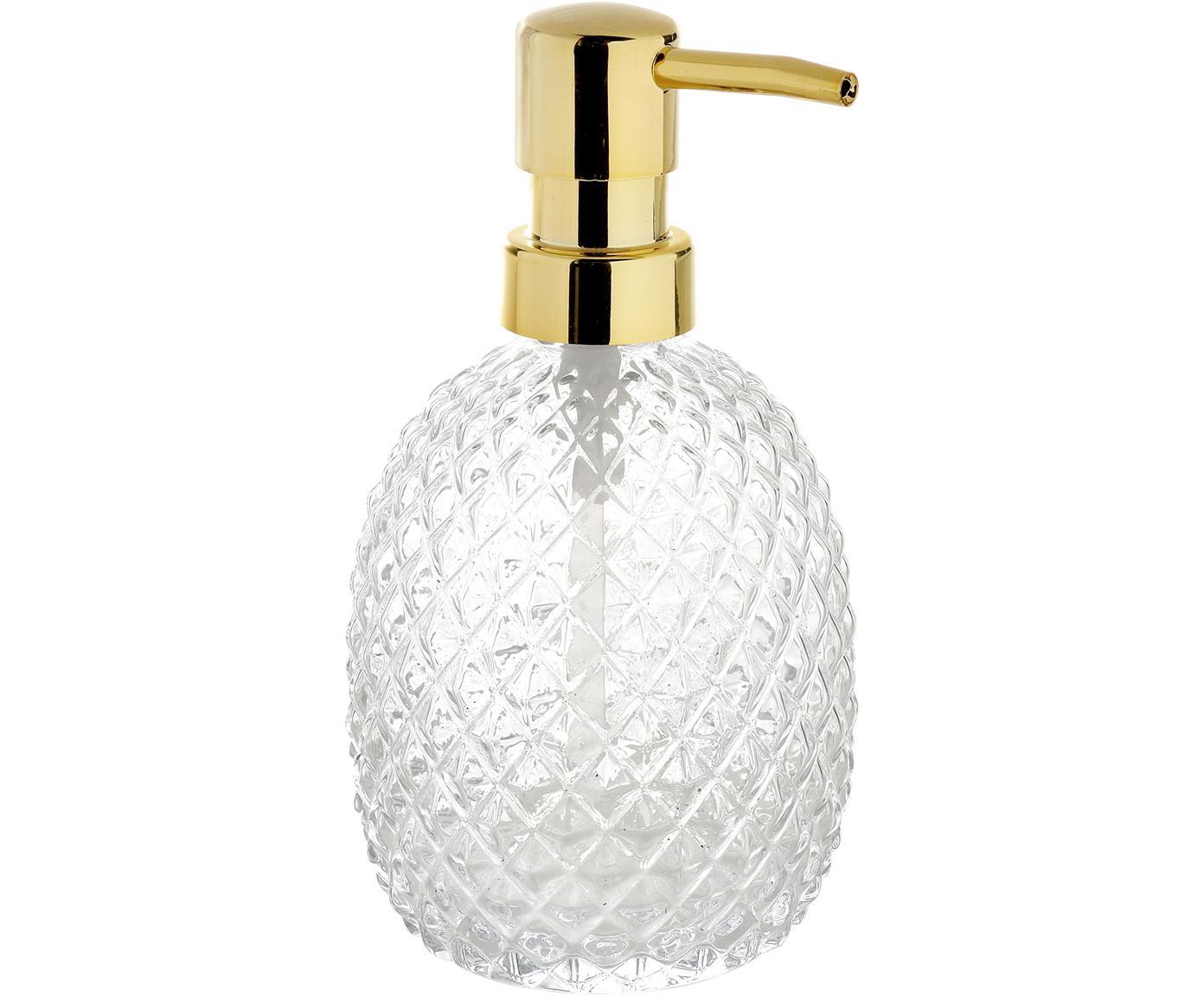 Dosatore di sapone in vetro Diamond, Trasparente, Ø 9 x Alt. 16 cm
