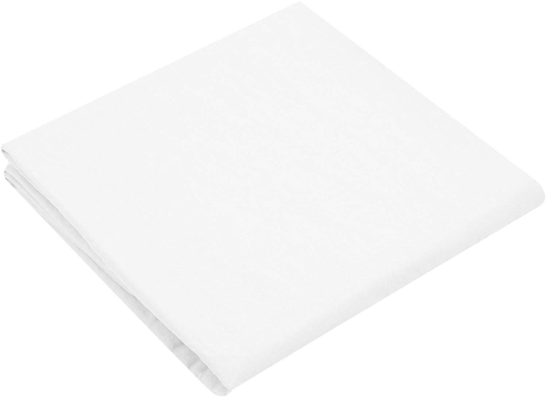 Spannbettlaken Nature, Leinen, 52% Leinen, 48% Baumwolle Mit Stonewash-Effekt für einen weichen Griff, Weiß, 180 x 200 cm
