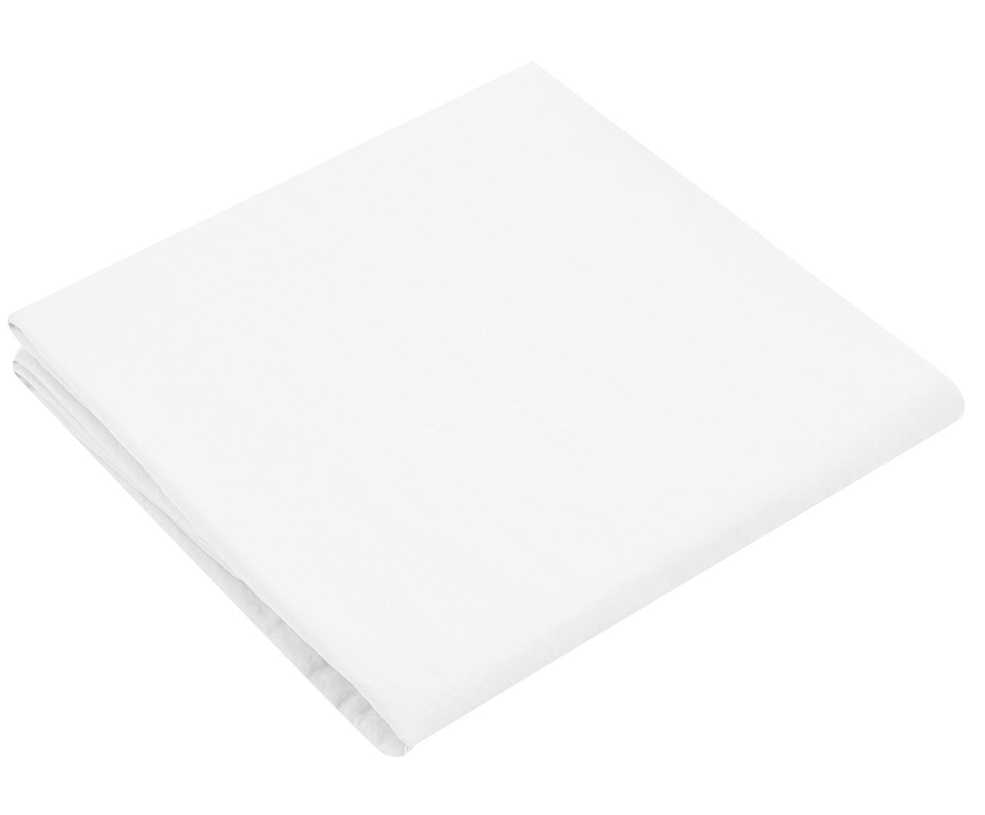 Prześcieradło z gumką z lnu Nature, 52% len, 48% bawełna Z efektem sprania zapewniającym miękkość w dotyku, Biały, S 160 x D 200 cm