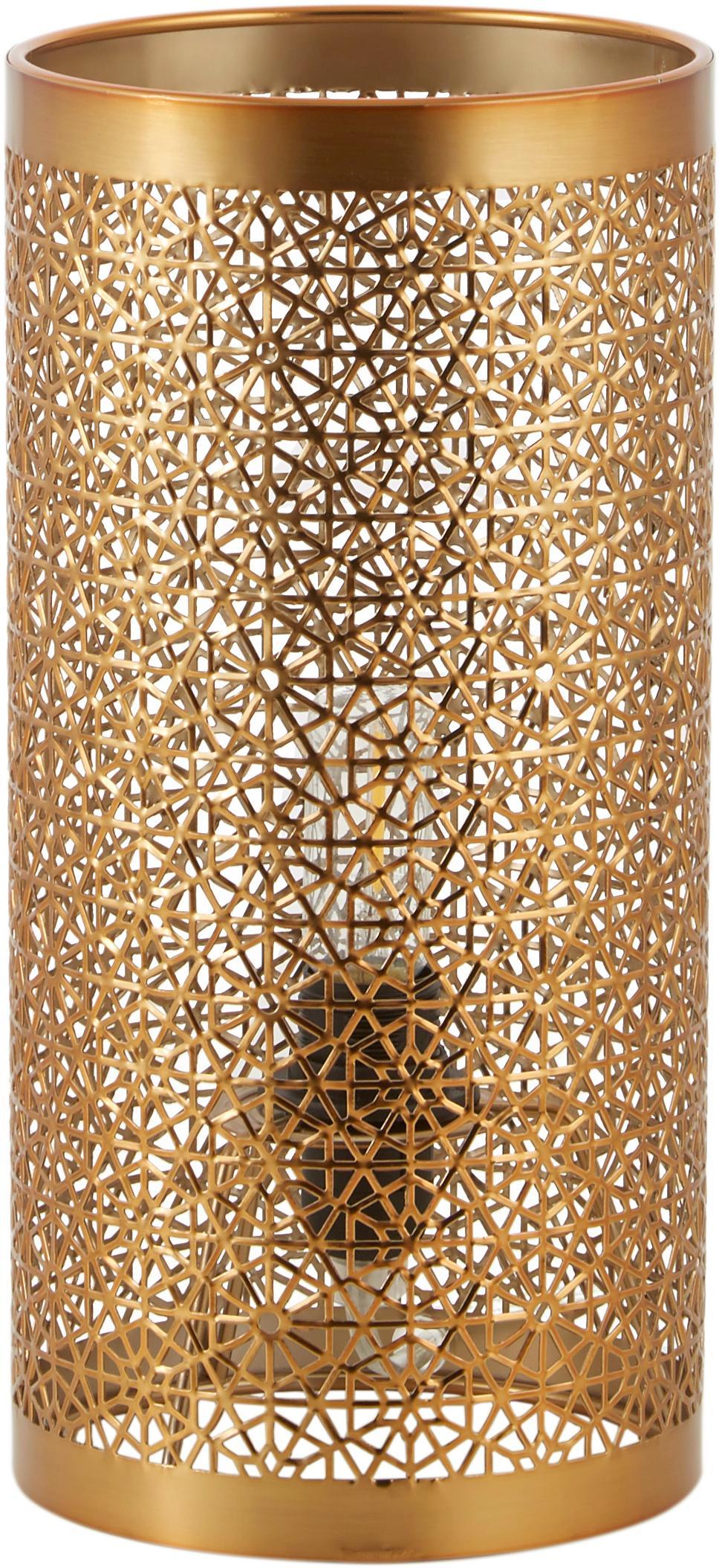 Tafellamp Hermine, messing, Messing, Mat messingkleurig, Ø 14 x H 28 cm