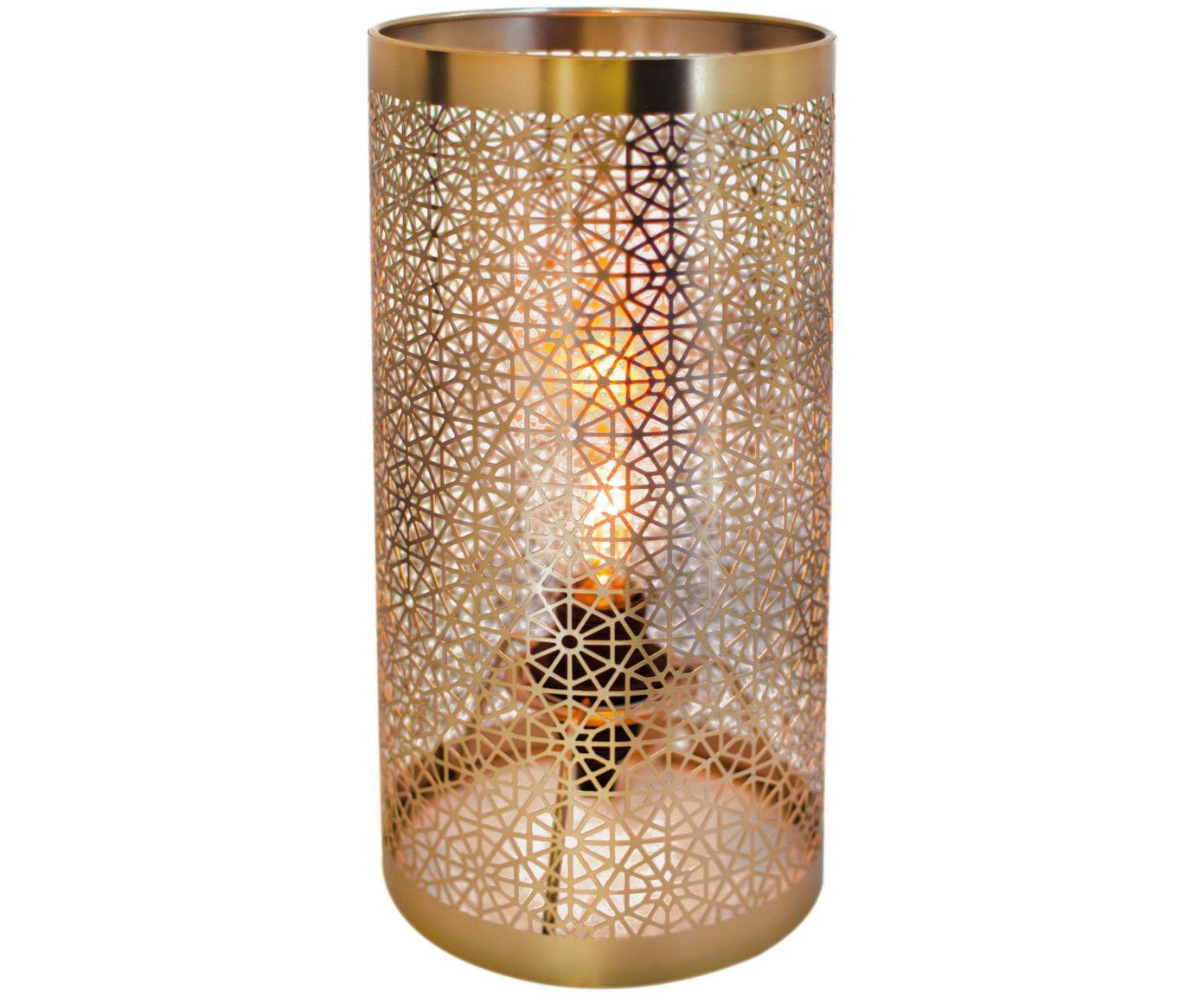 Lámpara de mesa Hermine, Latón, Latón mate, Ø 14 x Al 28 cm