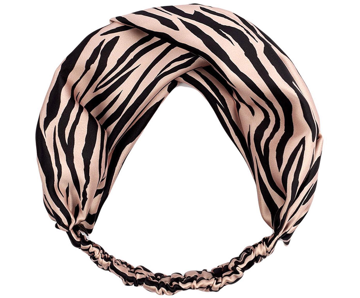 Haarband Soft Tiger, Webart: Satin, Rosa, Schwarz, Ø 29 cm