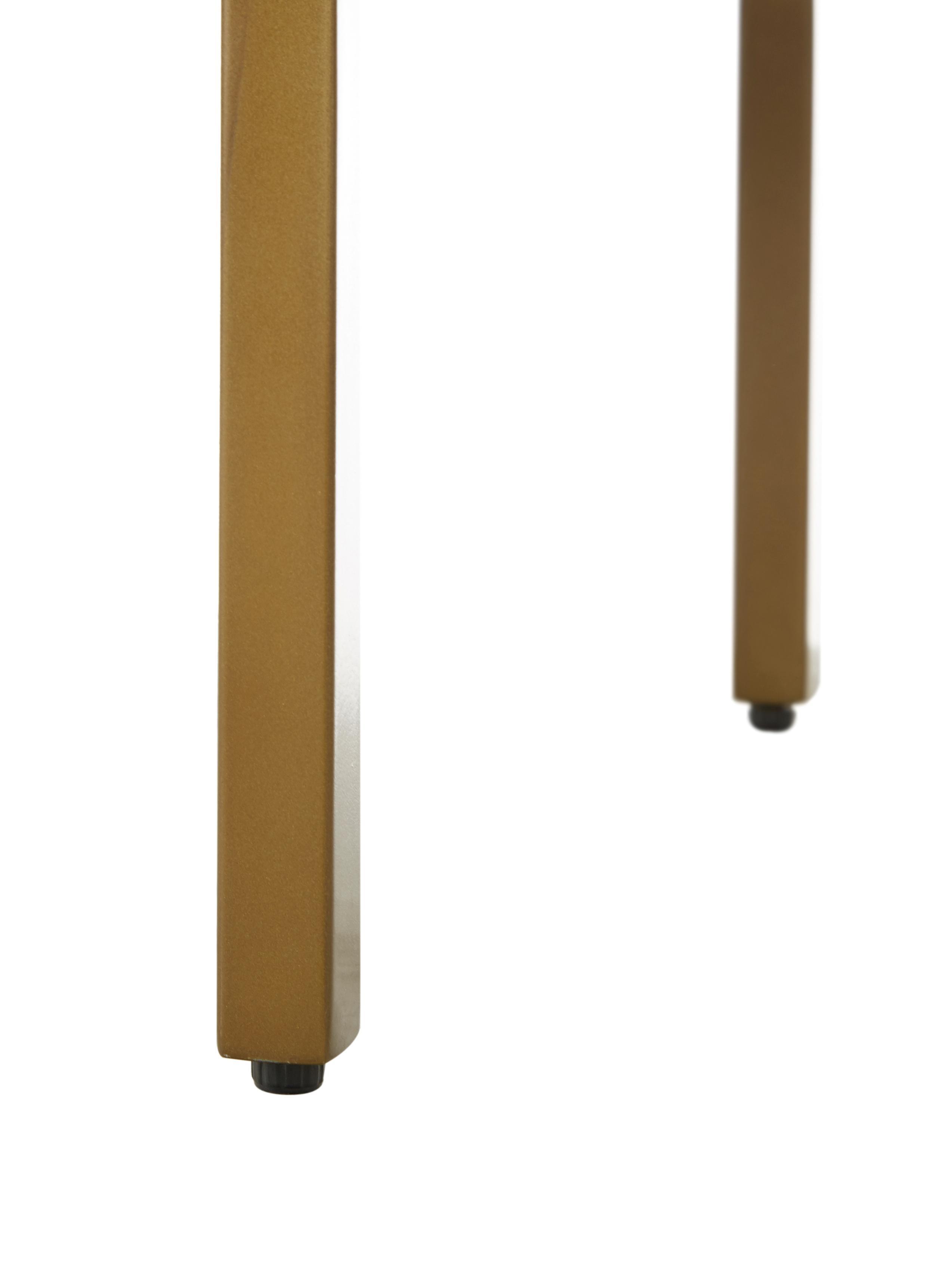 Lowboard Rasmus aus Massivholz, Korpus: Massives Mangoholz, lacki, Füße: Metall, pulverbeschichtet, Griffe: Metall, pulverbeschichtet, Korpus: Mangoholz, lackiertFüße: Goldfarben, mattGriffe: Goldfarben, matt, 180 x 60 cm