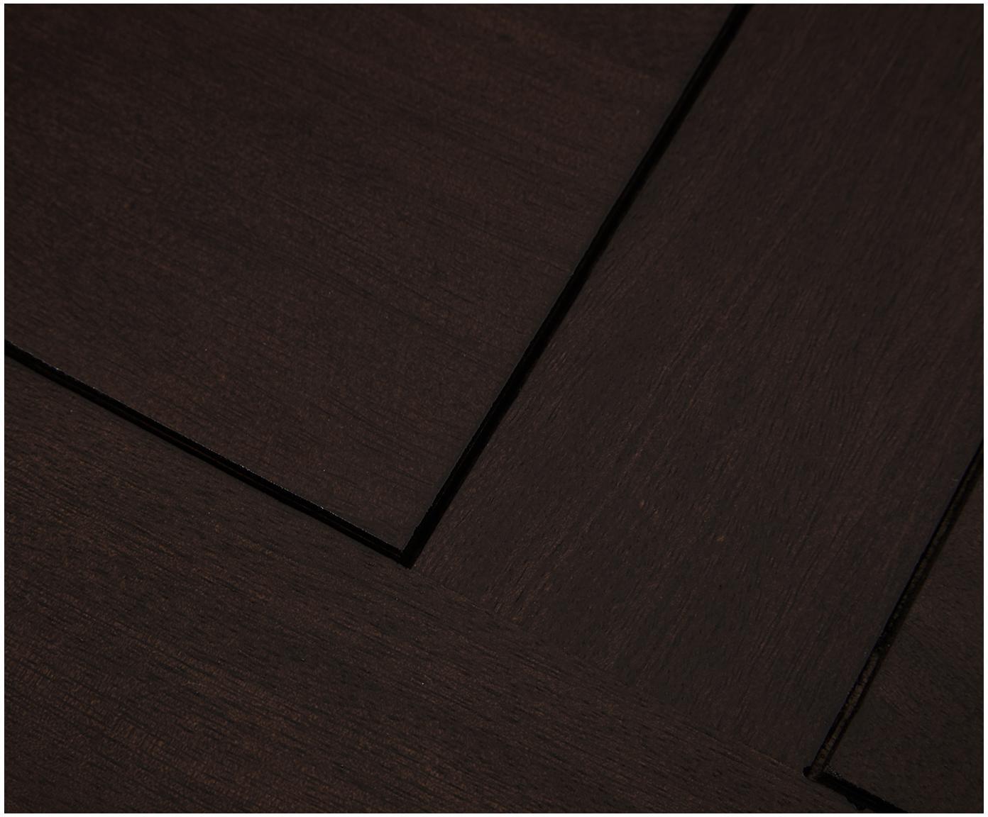 Massief houten tv-meubel Rasmus, Frame: massief gelakt mangohout, Poten: gepoedercoat metaal, Handvatten: gepoedercoat metaal, Frame: gelakt mangohout. Poten: mat goudkleurig. Handvatten: mat goudkleurig, 180 x 60 cm