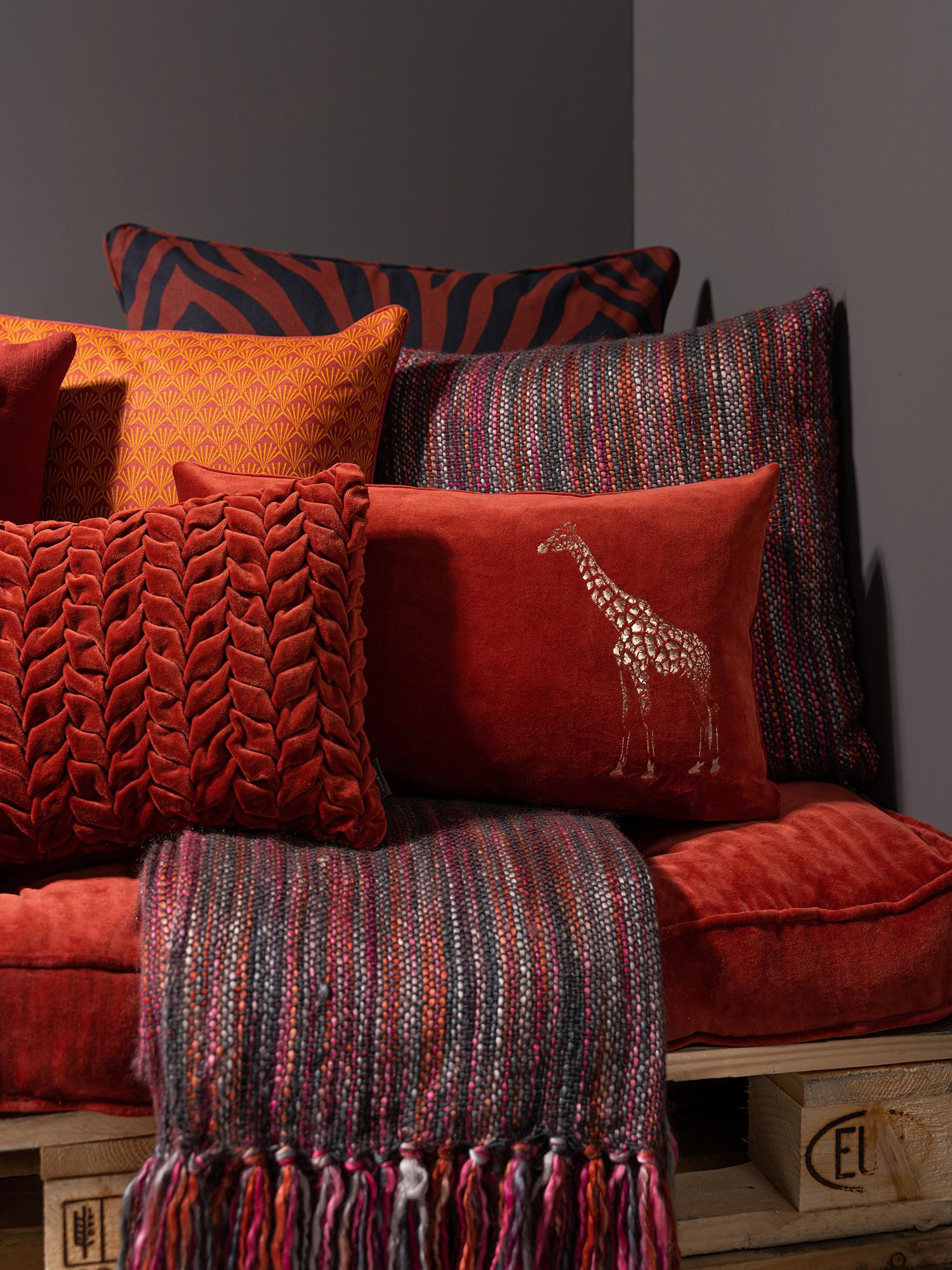 Kissen Tye mit bunter Strukturoberfläche, mit Inlett, Bezug: 95% Baumwolle, 5% Acryl, Mehrfarbig, 45 x 45 cm