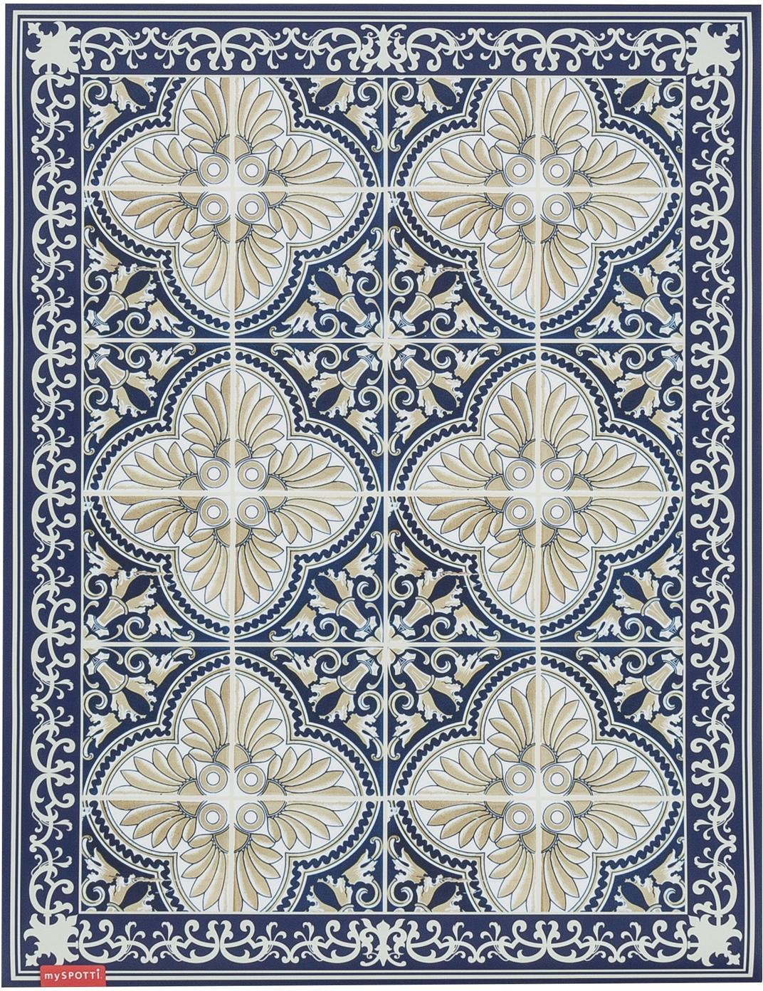 Mata podłogowa z winylu  Luis, Winyl, Niebieski, beżowy, S 65 x D 85 cm