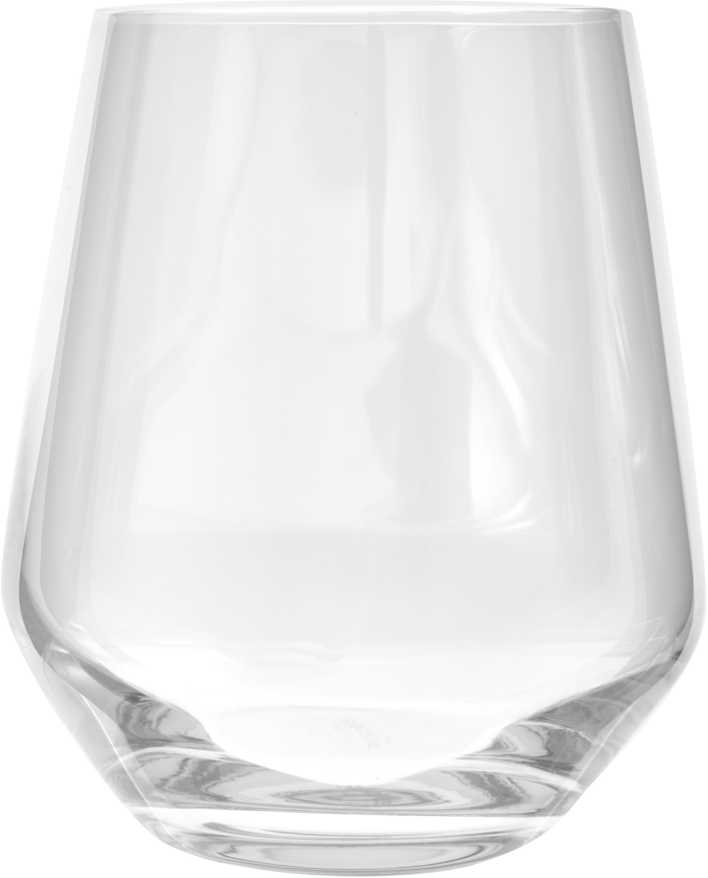 Vasos de cristal Revolution, 6uds., Cristal, Transparente, Ø 9 x Al 11 cm