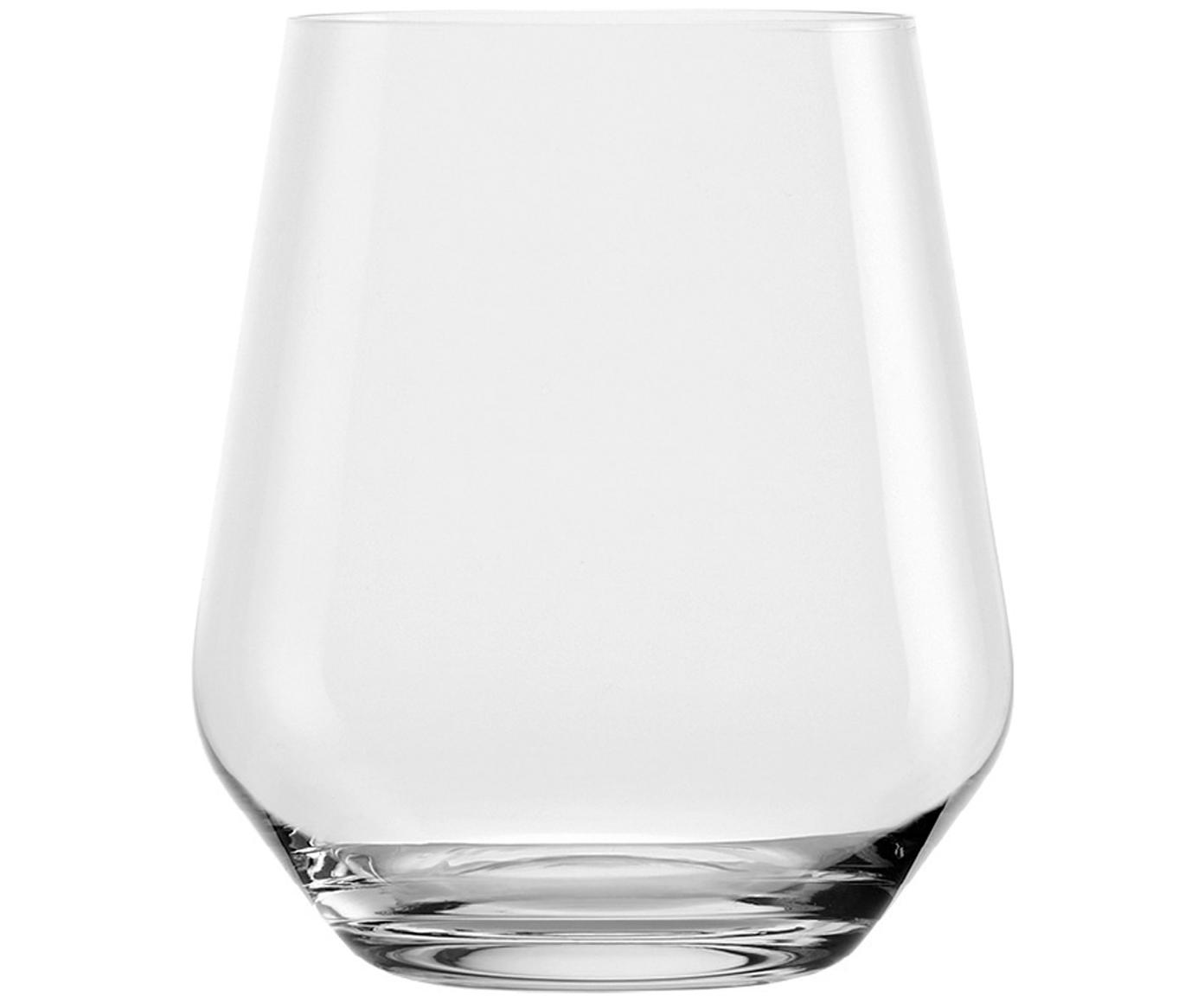 Bauchige Kristall-Wassergläser Revolution, 6er-Set, Kristallglas, Transparent, Ø 9 x H 11 cm